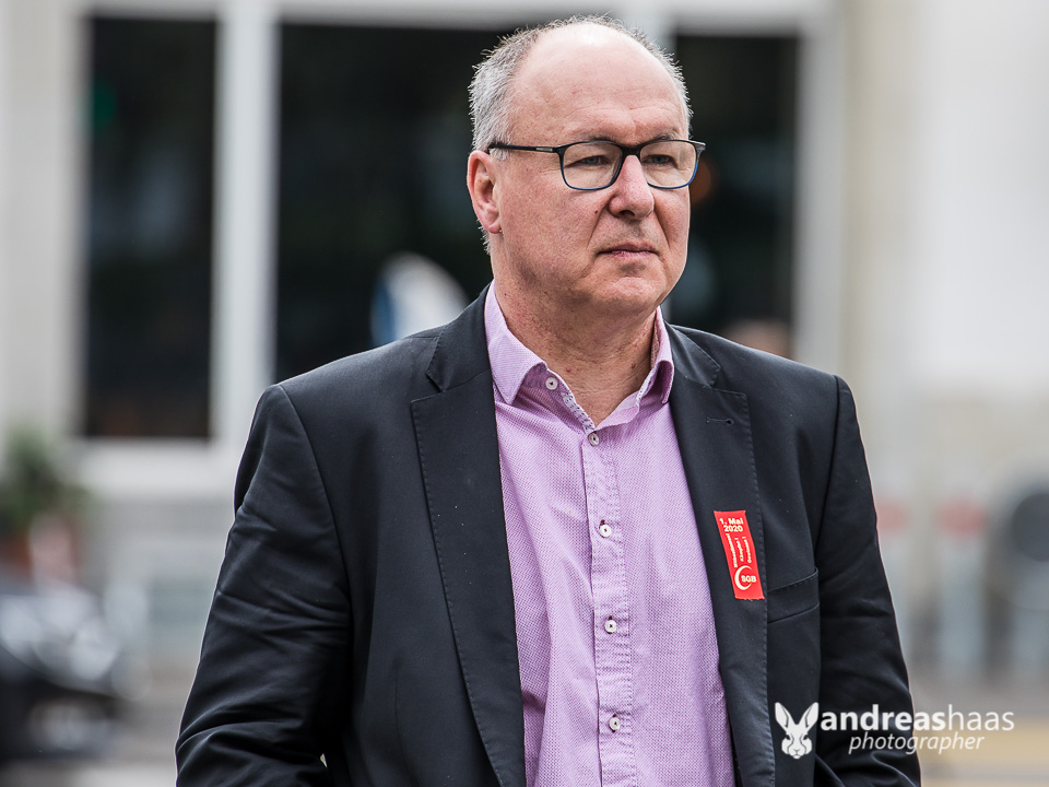 Auch er war anwesend: Pierre-Yves Maillard, Nationalrat SP/VD und Präsident des Schweizerischen Gewerkschaftsbund (SGB)