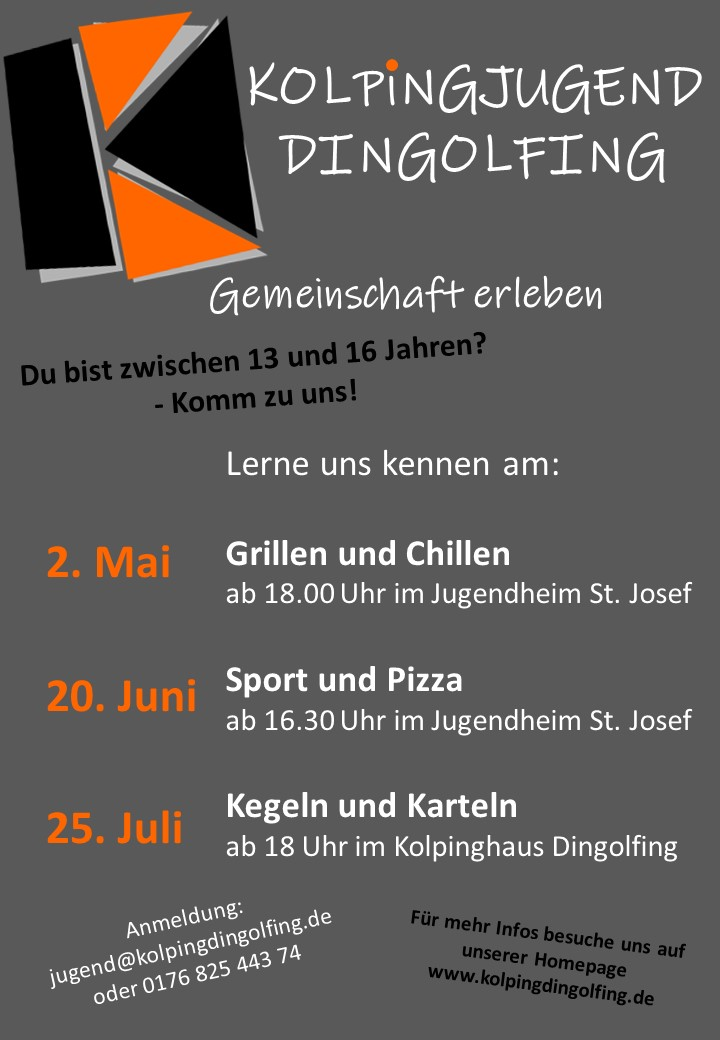 Kolping Dingolfing- Kolpingjugend Dingolfing- Jugend- Dingolfing