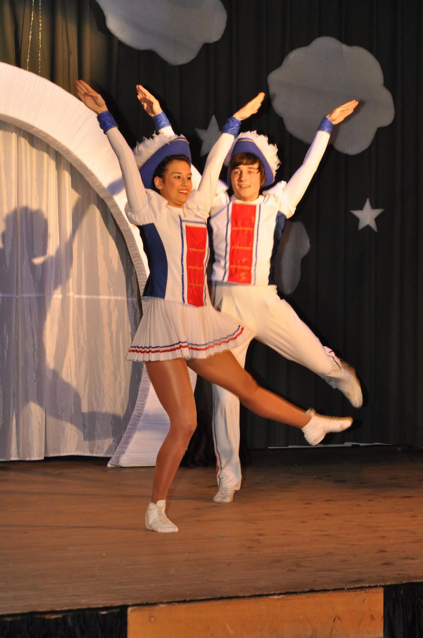 Lena und Max (ECC) beweisen ihre Tanzkünste in Delitzsch. Ein super Auftritt!