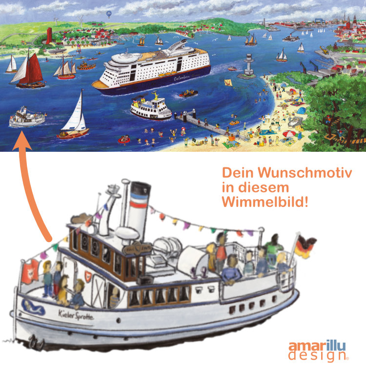www.amarillu-design.de, Wimmelbilder mit Wunschmotiv