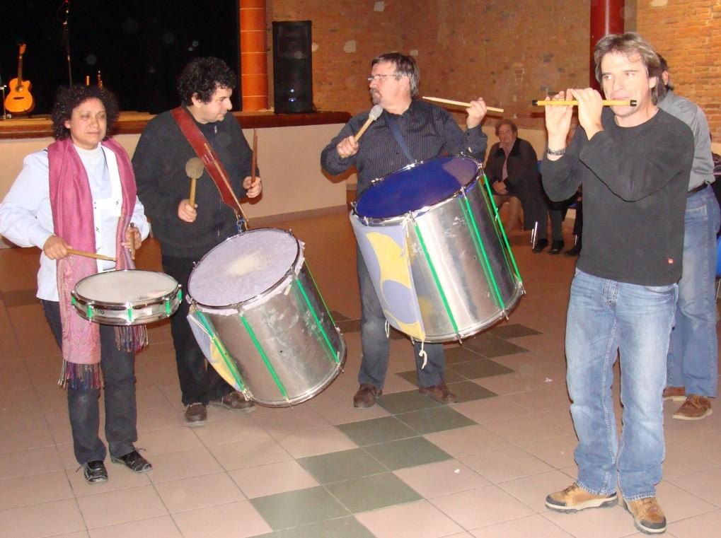 Jackie et Jean-Michel OGIER, Gilles ROUGEYROLLES, Franck FERRERO-Bal Téléthon Verfeil 09/12/2010