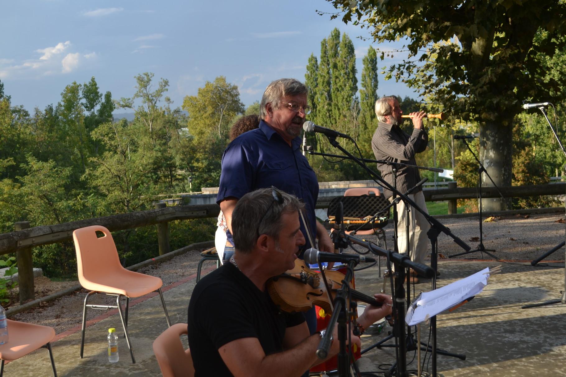 Jackie et Jean-Michel OGIER, Robert BLANC, Franck FERRERO-Châteaux Chantants Castelmayran 20/09/2014-crédit photo A. GUINVARCH