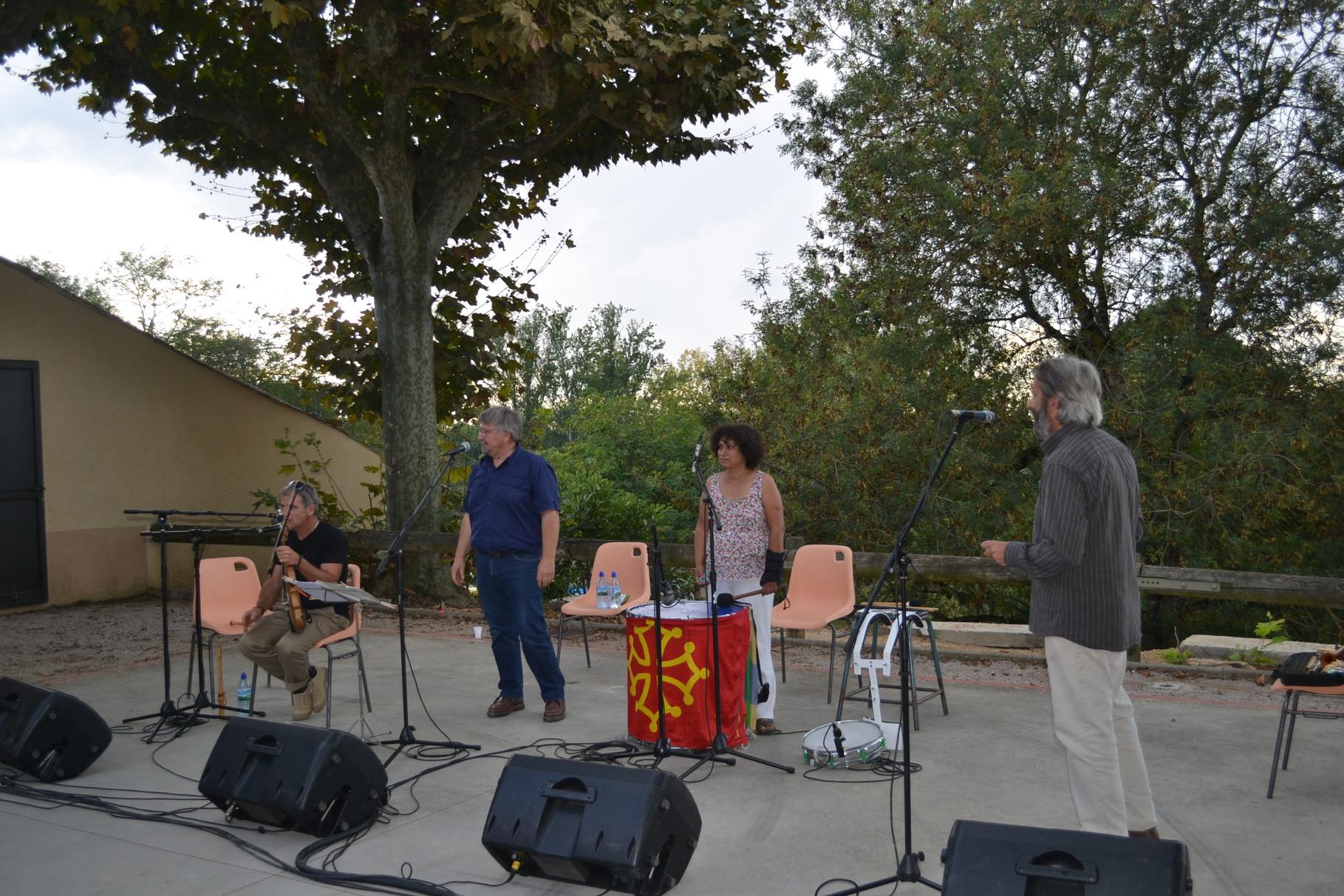 Jackie et Jean-Michel OGIER, Robert BLANC, Franck FERRERO-Châteaux Chantants Castelmayran 20/09/2014 -crédit photo A. GUINVARCH