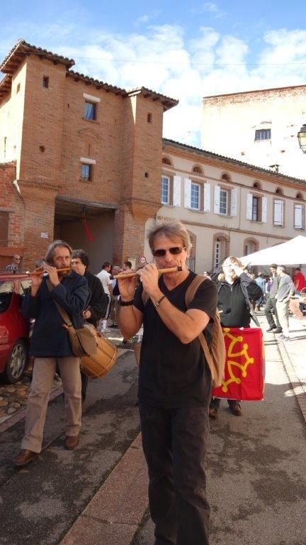 Franck FERRERO, Robert BLANC aux fifres - Bassacada à Fête du Figuier 20/10/2013