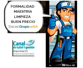Fontanero Grupo arizA de pie