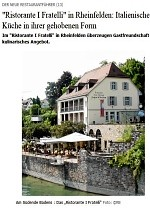 Restaurant-Führer, Badische Zeitung