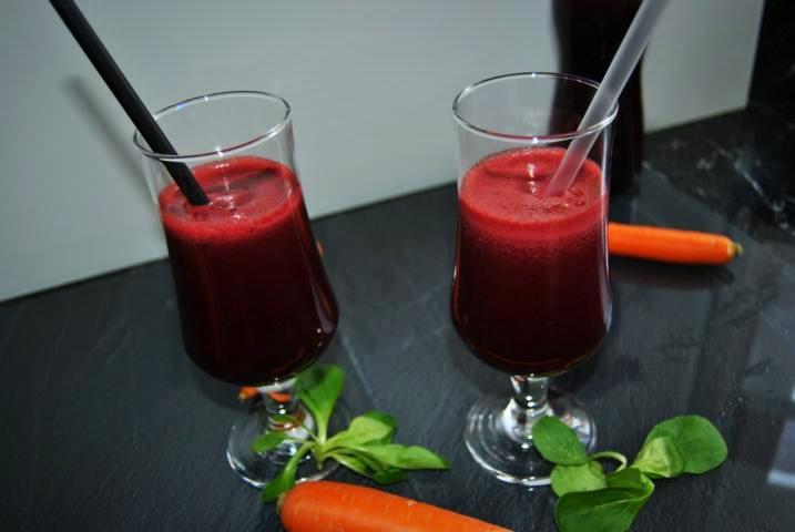 Detox Saft Rezept mit Rote Beete und Birne