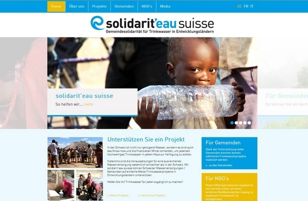 Website solidarit'eau suisse, Zürich