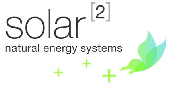 Logo und Claim Solar hoch 2 GmbH, Hilterfingen