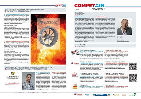 Kundennewsletter Competair GmbH, Thalwil