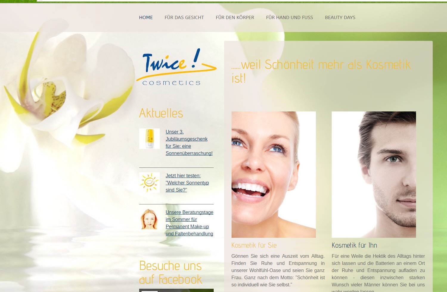 Website twice cosmetics, Ostermundigen