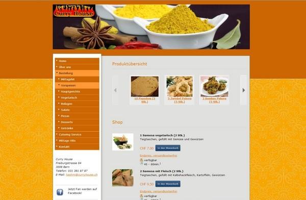 Webshop Curry House, Bern