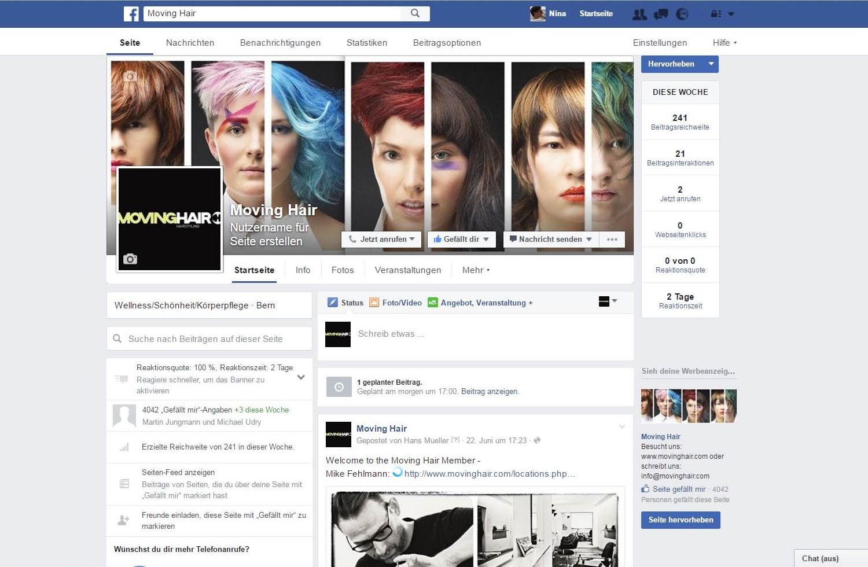 Facebook moving hair, Frieswil