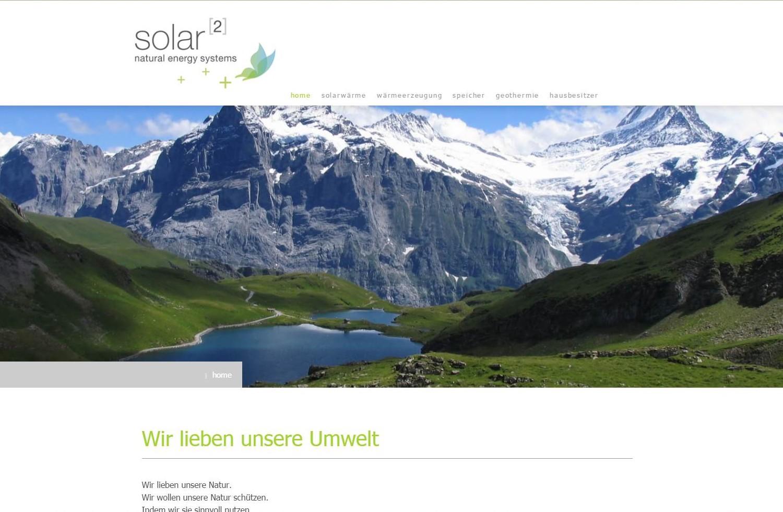 Website Solar hoch 2 GmbH, Hilterfingen