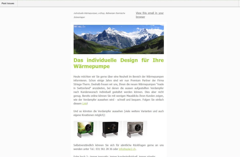 email Newsletter Solar hoch 2, Hilterfingen