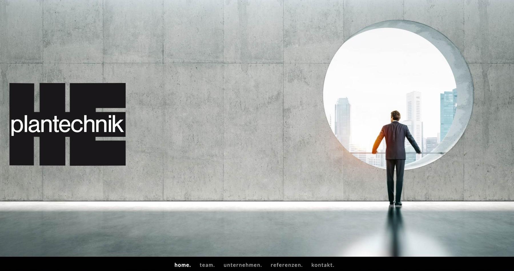 Website HE plantechnik GmbH, Stuttgart (D)
