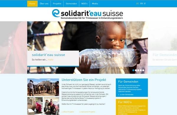 Website solidarit'eau suisse, Zürich