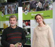 Referent Karl-Heinz Schindlatz mit Karin Hodl von der Bezirksgeschäftsstelle des LBV