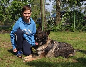 Simon mit Maja