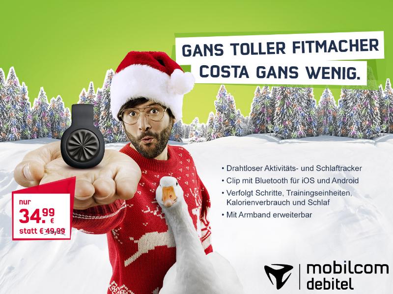 mobilcom-debitel Hohenstein-Ernstthal Costa Gans wenig Fitness-Tracker Jawbone UP Move Weihnachtsmarkt 2015