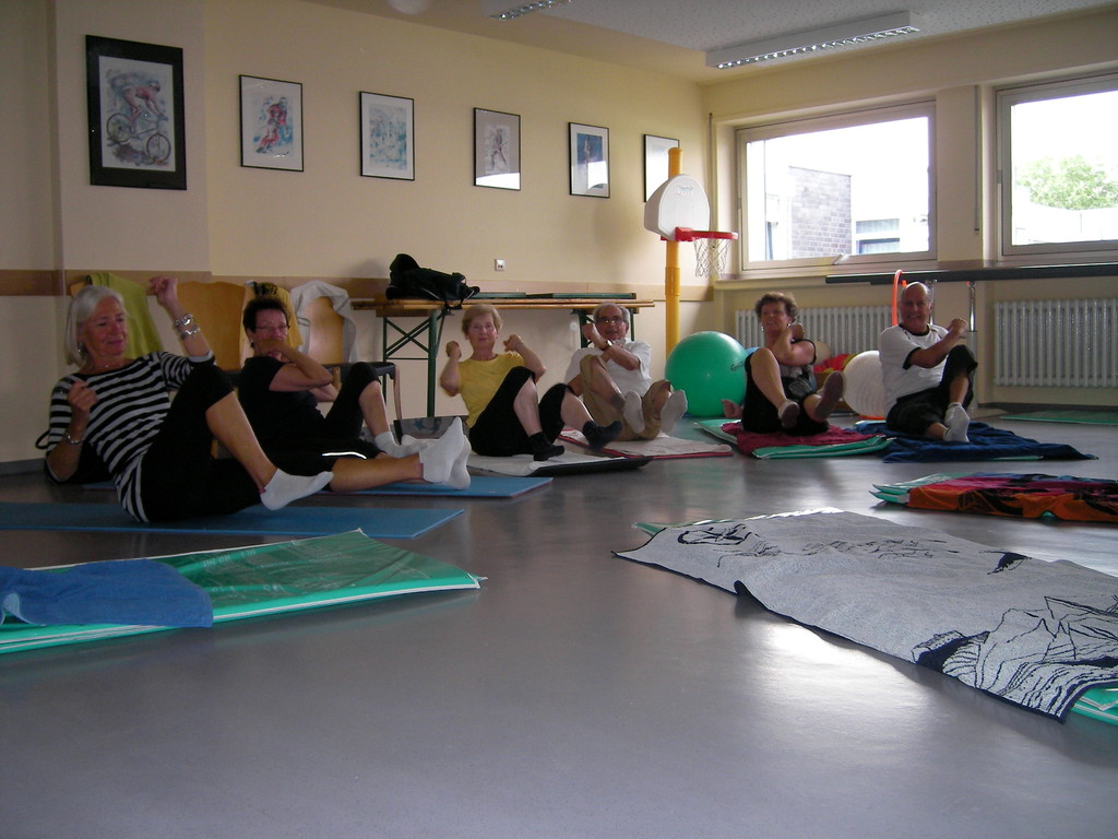 Rückenschonende Gymnastik mit Musik