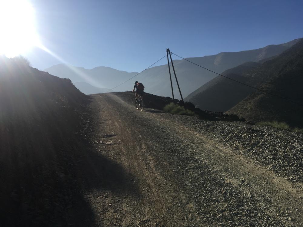 Uphill biken