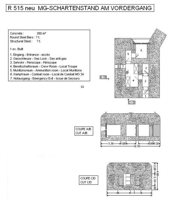 Bauplan Regelbau 515 Bunker