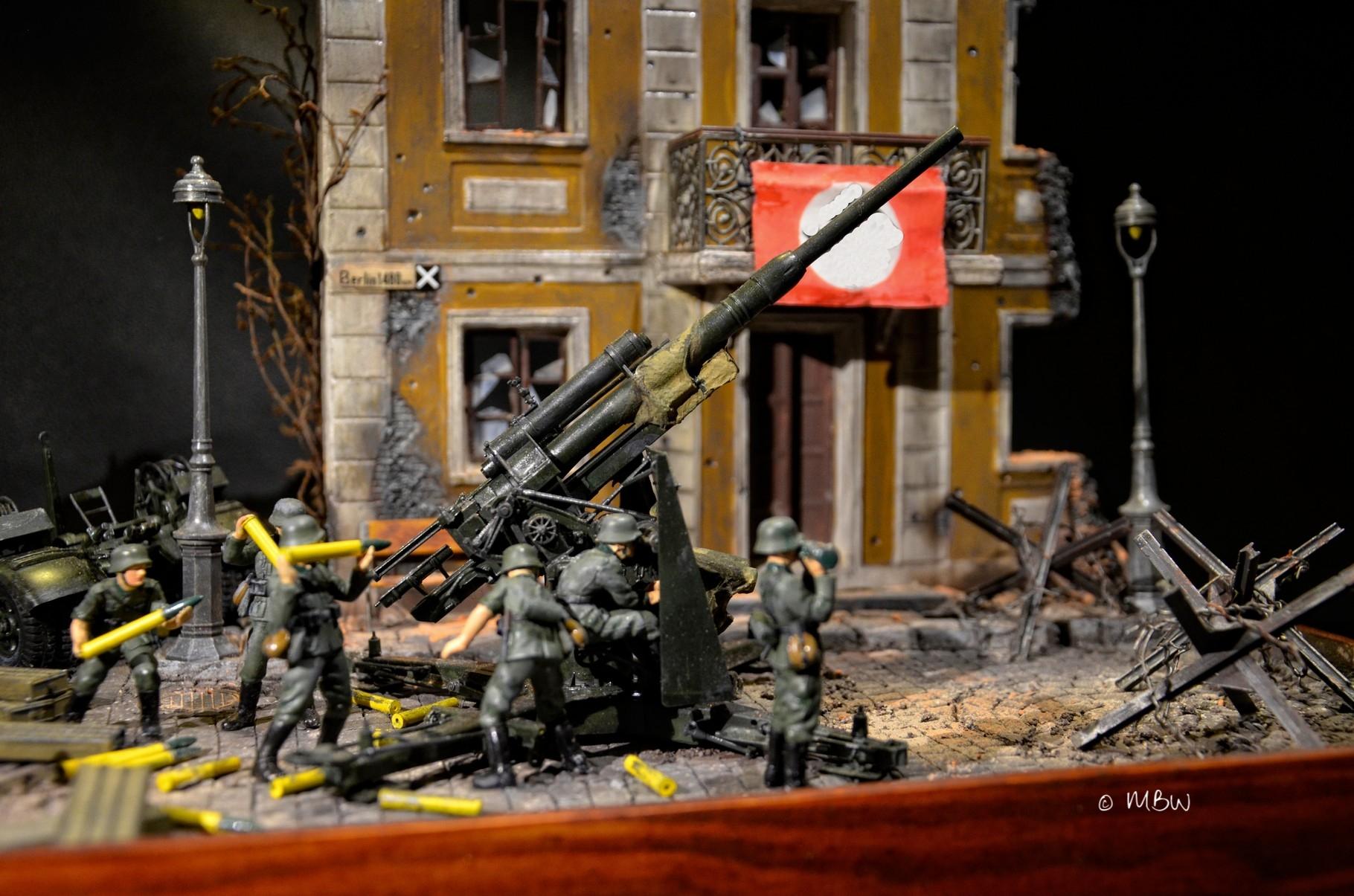 Diorama Flak 88 in Polen