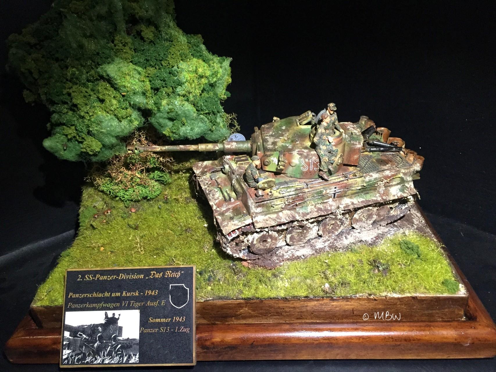 Diorama Tiger Panzer in Kursk - 1:35