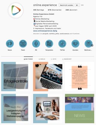 Content Strategie auf Instagram