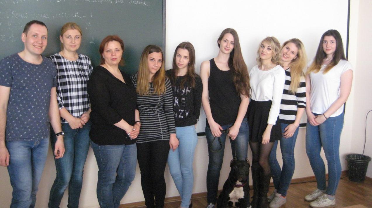 """Группа слушателей и преподаватель """"Кинология"""" май 2016 года"""
