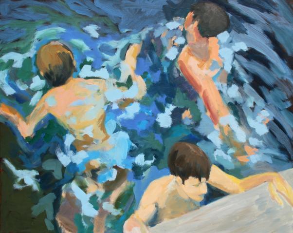 Badende IX, 2016 Acryl auf Leinwand 80x100