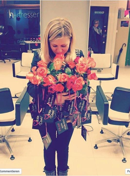 Friseur h-dresser Geschenk Blumen Rabatt
