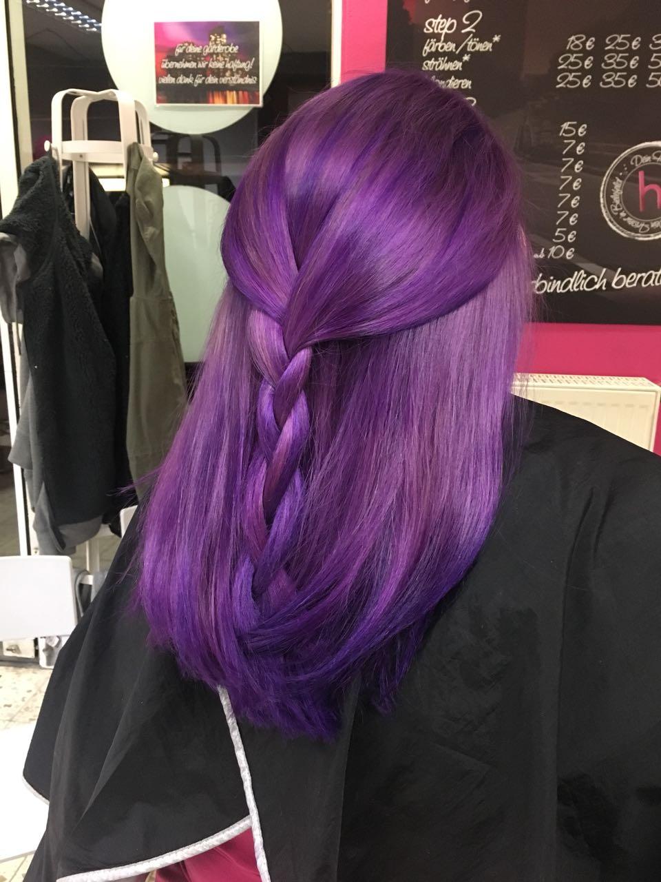 Lila Haare Farbe Bielefeld Friseur ohne termin