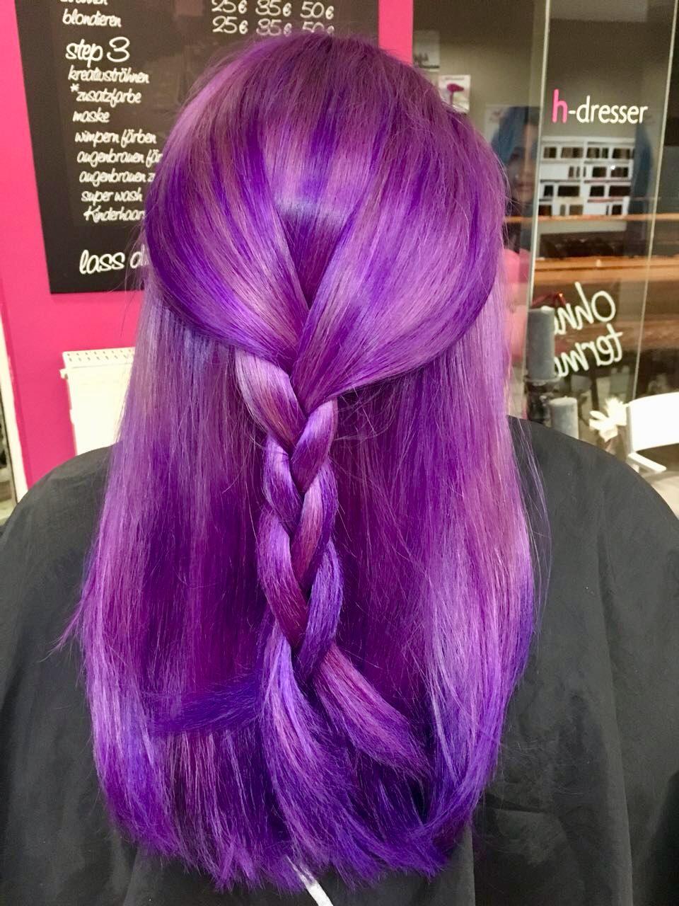 Purple Haarfarbe Bielefeld Friseur