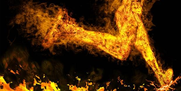 brennender Läufer