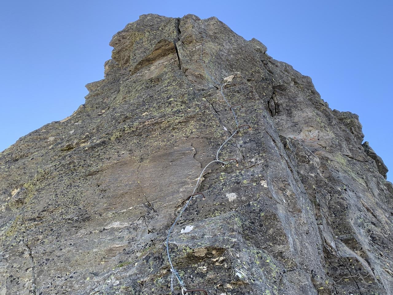 Eine der Klettersteigpassagen