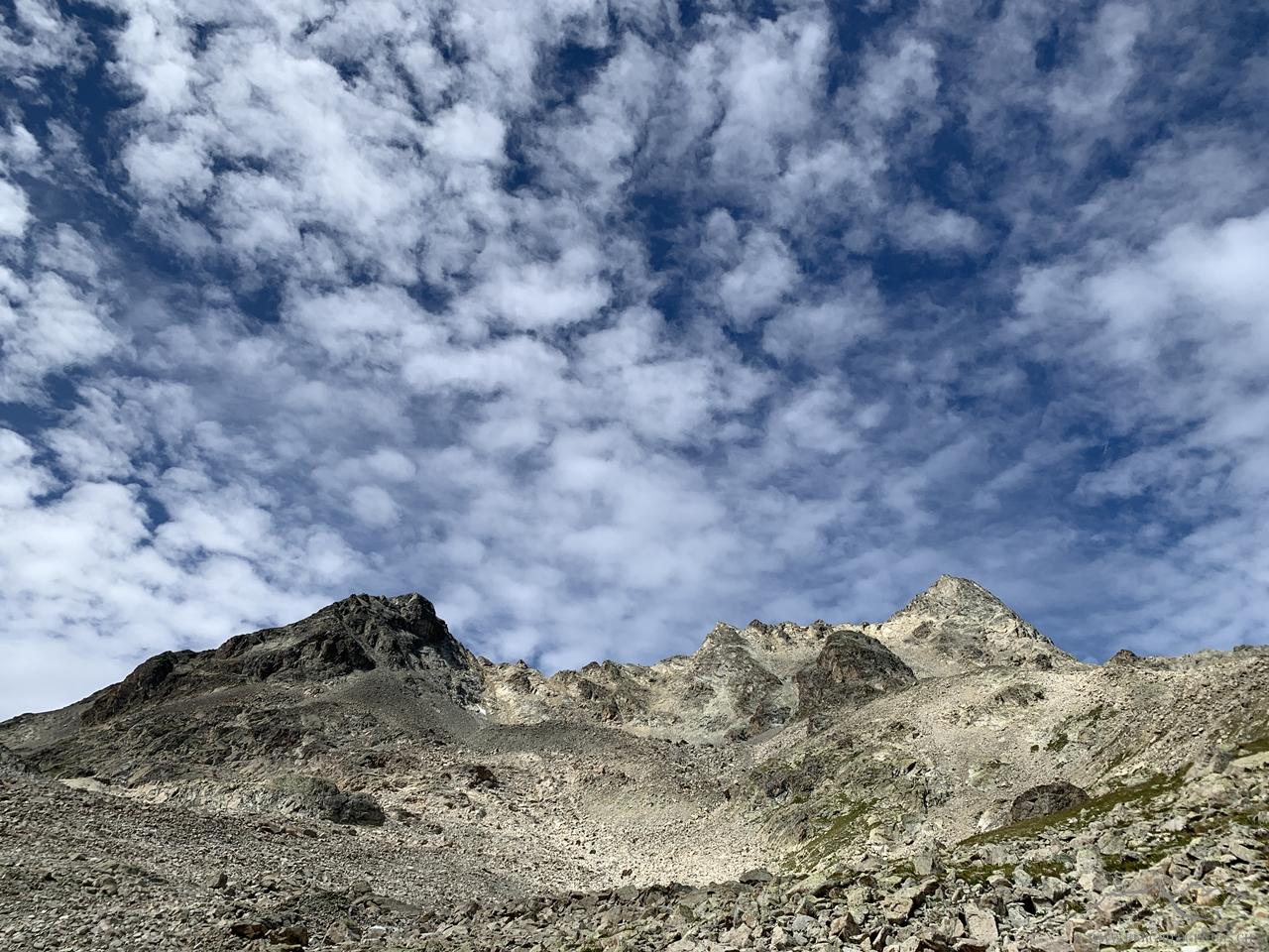 Hübsches Wolkenspiel