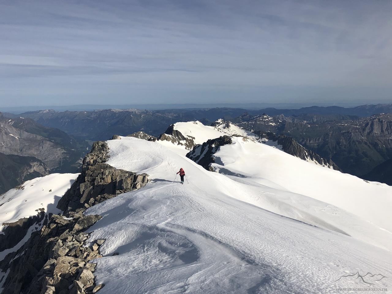Anmarsch gen Diechterhorn (in Abweichung zur offiziellen Skiroute gewinnen wir hier den Gipfel von Norden und nicht von Süden)