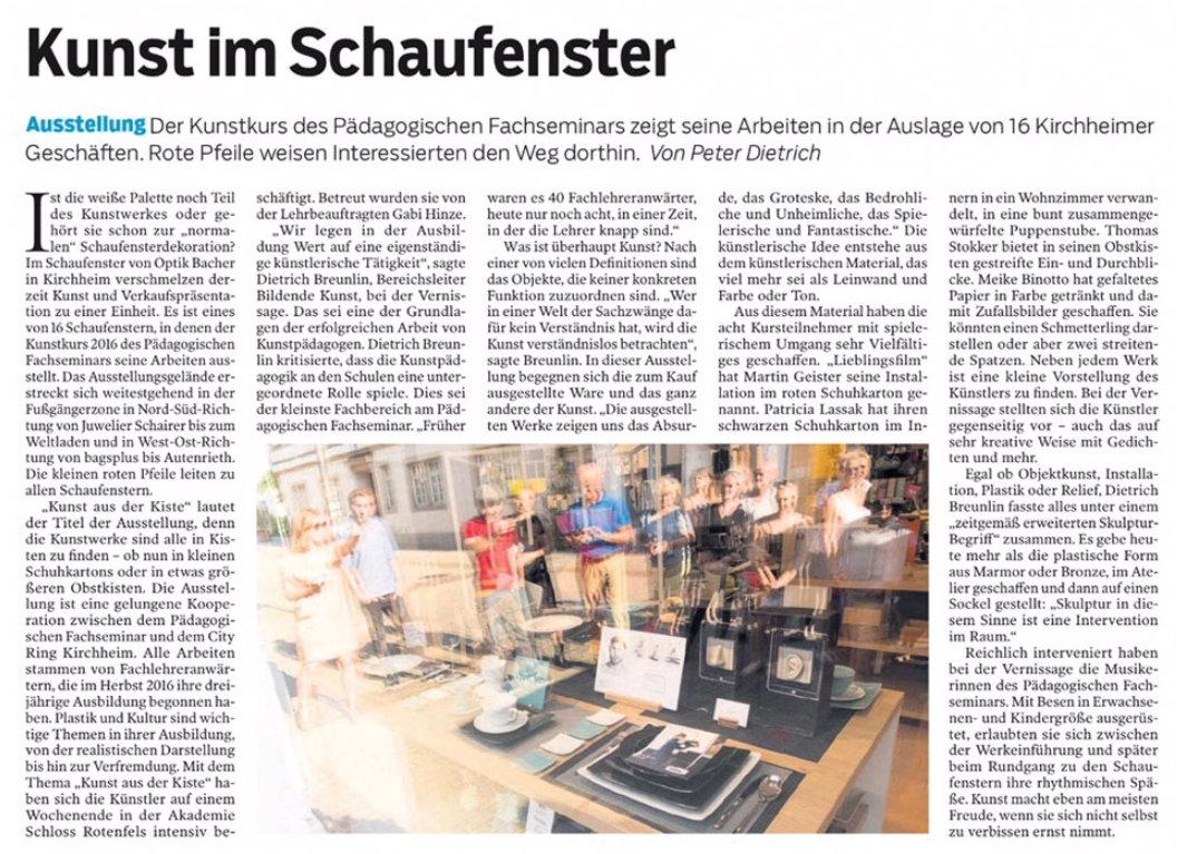 SAF Kirchheim - Kunst in der Kiste