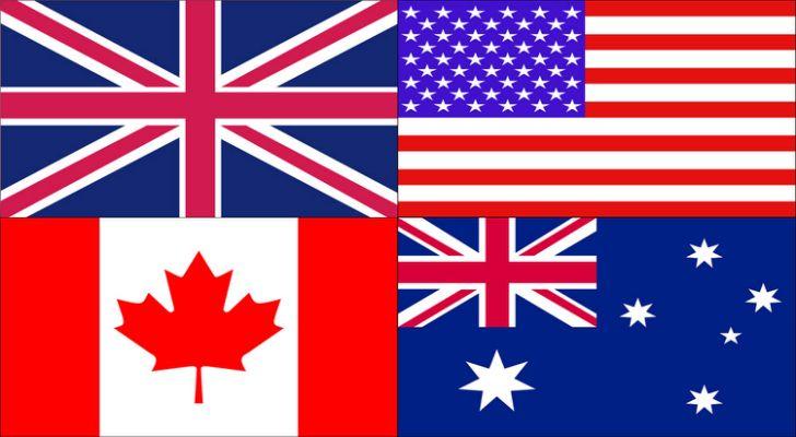 Resultado de imagem para english flags