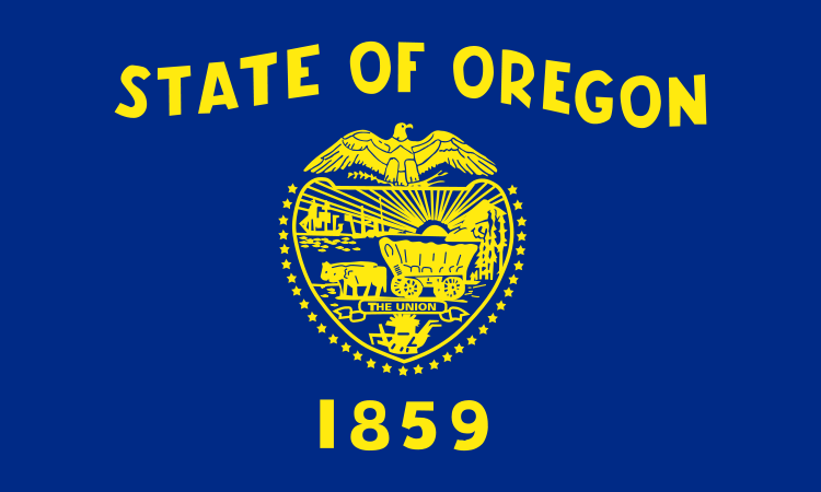 Us State Flags Oregon To Wyoming Metroflagscom The Largest