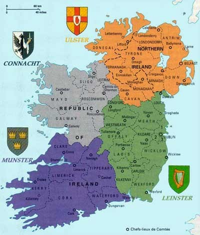 The Four Counties of Ireland