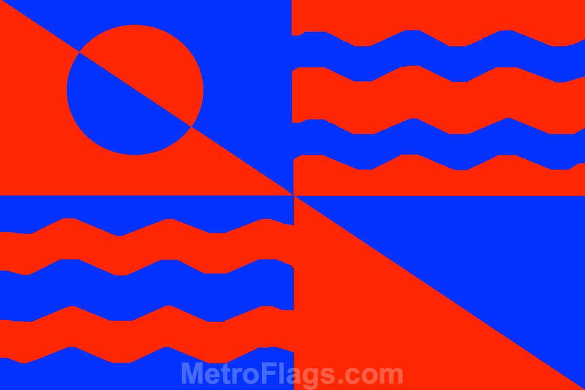 The Flag Of Titan Moon - Metroflags Com