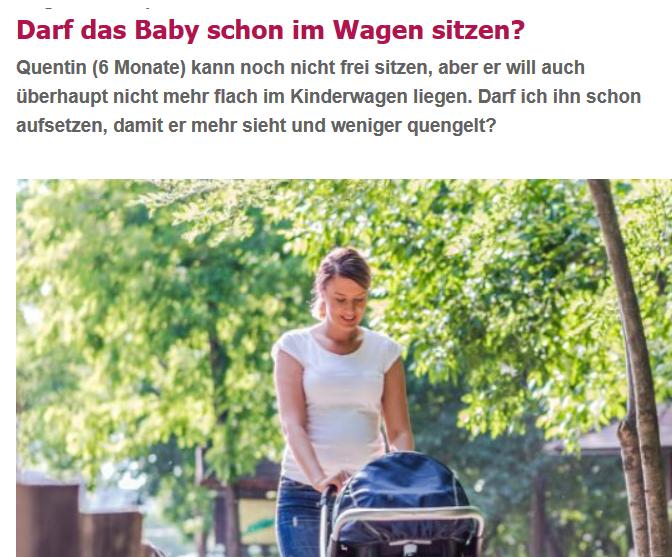 Darf das Baby schon im Wagen sitzen