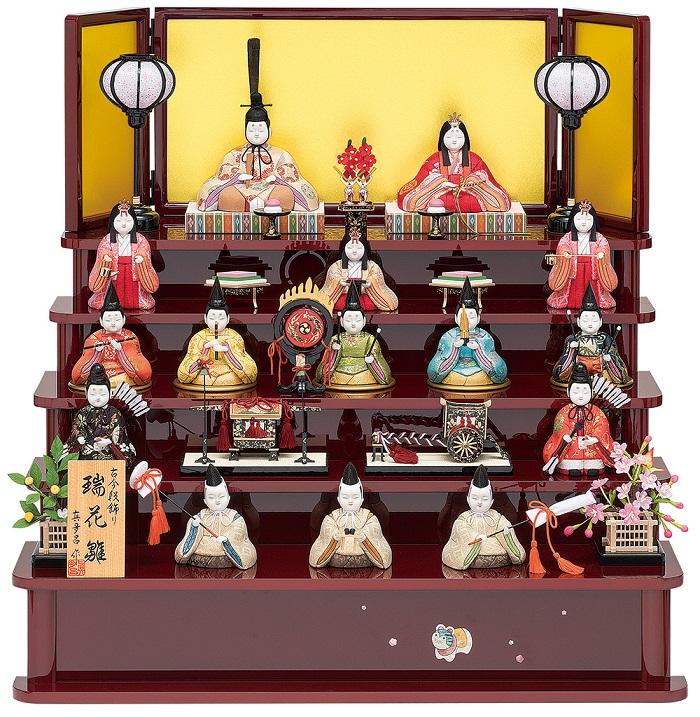 真多呂人形「瑞花雛15人飾り」 品番:1318