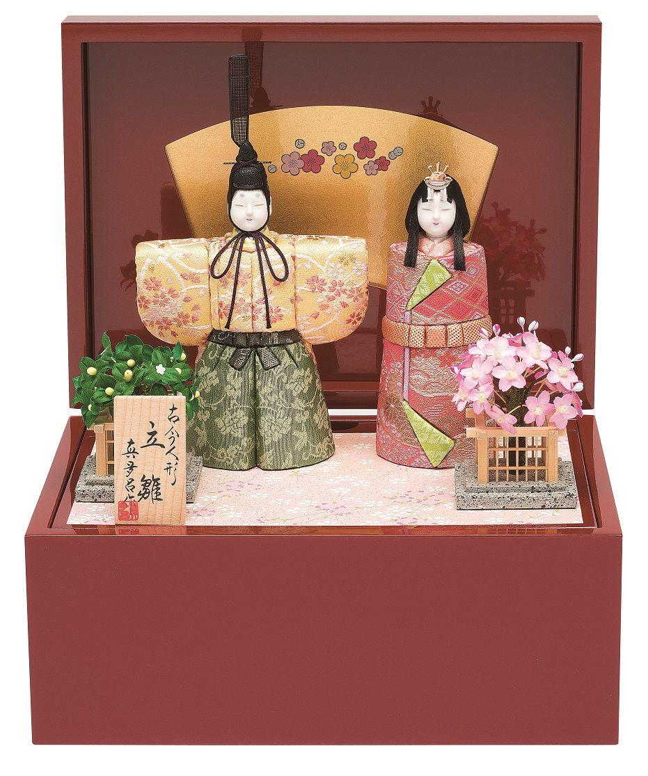 真多呂人形 親王飾り「春桜立雛セット」 品番:1175
