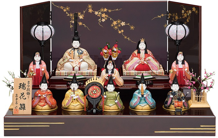 真多呂人形「瑞花雛10人飾り」品番:1337