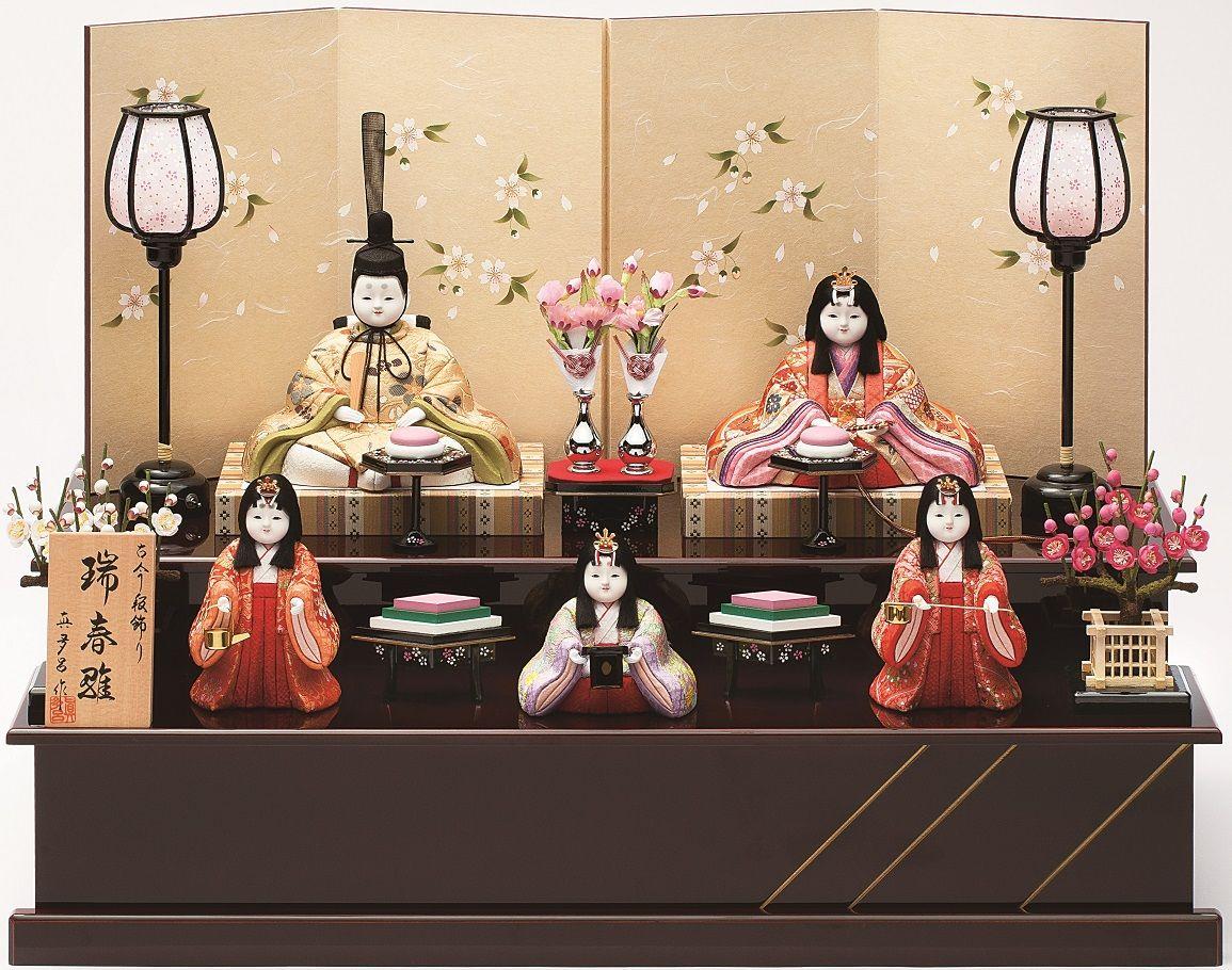 真多呂人形「瑞春雛5人飾り」品番:1367