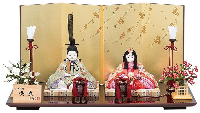 真多呂人形 親王飾り「咲良セット」品番:1294 収納式